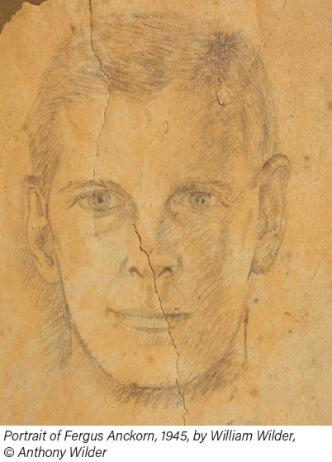 Portrait of Fergus Anckorn, 1945, by William Wilder, © Anthony Wilder