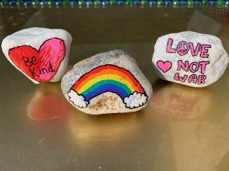 Paint rocks for the Foundation Stones Project